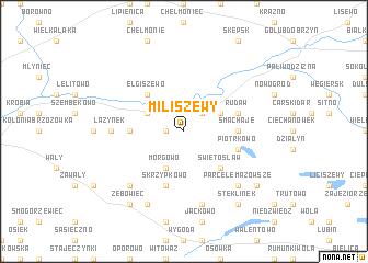 map of Miliszewy