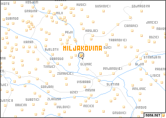 map of Miljakovina