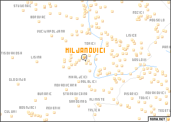 map of Miljanovići