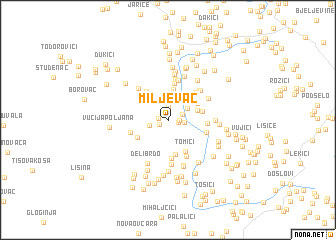 map of Miljevac
