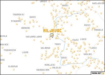 map of Miljevac