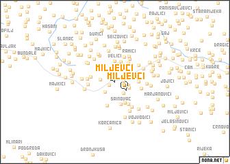 map of Miljevci