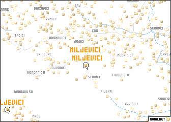 map of Miljevići