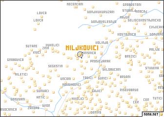 map of Miljkovići