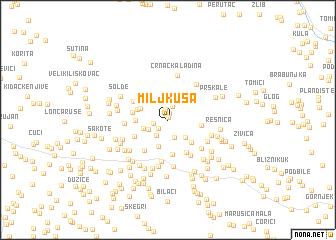 map of Miljkuša