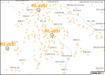 map of Miljuši