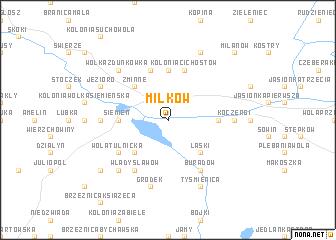 map of Miłków