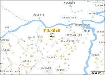 map of Milkuša