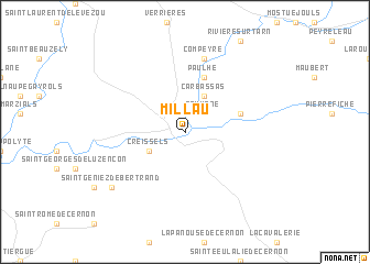 Millau France map nonanet
