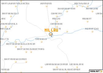 Millau France map nonanet