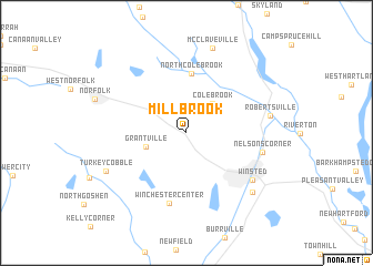 map of Mill Brook