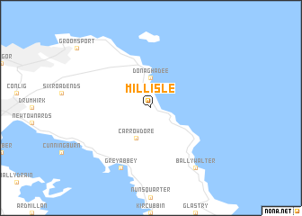Millisle United Kingdom Map Nonanet - Topographic map of united kingdom