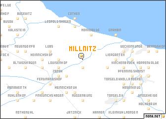 map of Millnitz