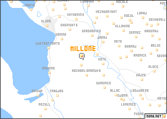 map of (( Millonë ))