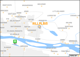 map of Mill Plain