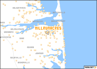 map of Mill Run Acres