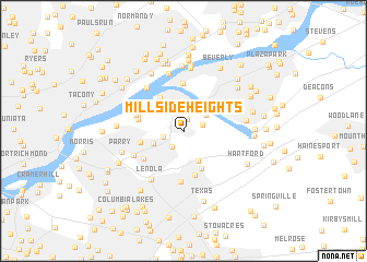 map of Millside Heights