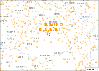 map of Milojevići