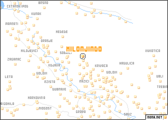 map of Milonjin Do