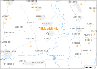 map of Miloševac