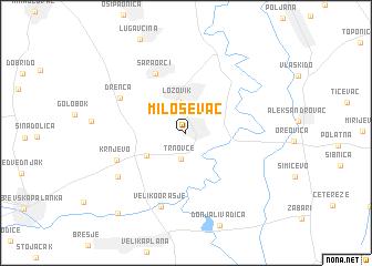 map of Miloševac