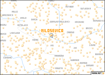 map of Miloševica