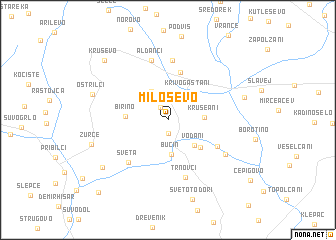 map of Miloševo