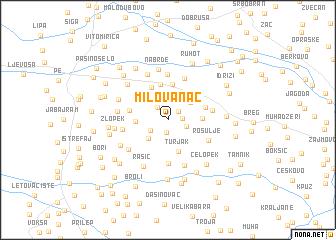 map of Milovanac