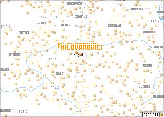 map of Milovanovići