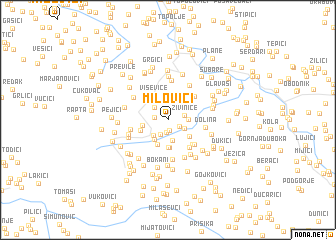 map of Milovići