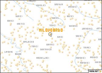 map of Milovo Brdo