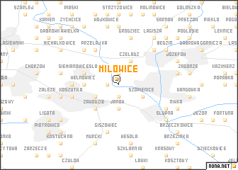 map of Milowice