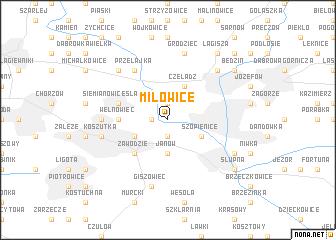 map of Milowice