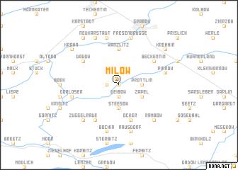 map of Milow