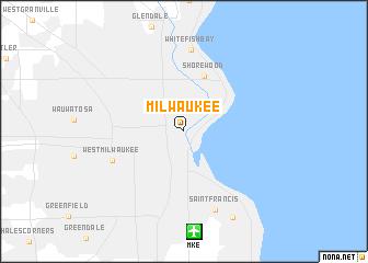 Milwaukee United States Usa Map Nona Net