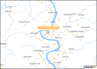 map of Minanga Sur