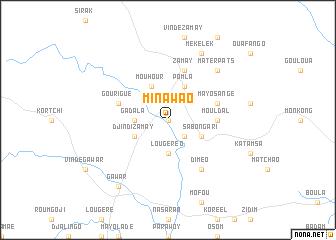 map of Minawao