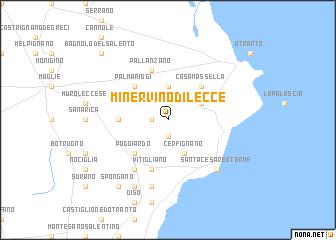 Minervino di Lecce (Italy) map - nona.net