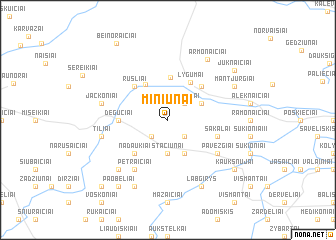 map of Miniūnai