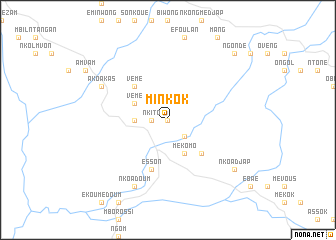map of Minkok
