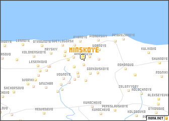 map of Minskoye