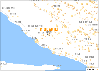 map of Miočevići