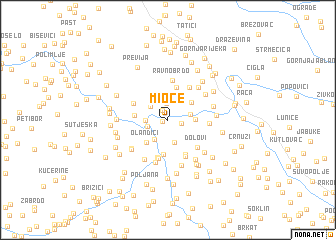 map of Mioče