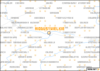 map of Miodusy Wielkie