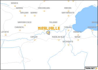 map of Miralvalle