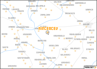 map of Mirče Acev
