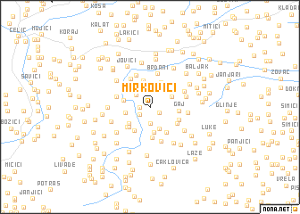 map of Mirkovići