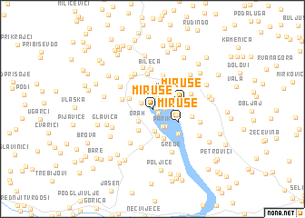 map of (( Miruše ))
