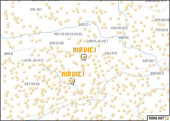 map of Mirvići