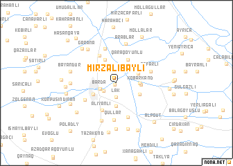 map of Mirzalıbǝyli